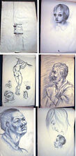 CIRCA 1940 ORIGINAL ART DRAWINGS PORTFOLIO SKETCHPAD COLLECTION