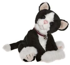 Jinksy collectable black & white plush cat by Charlie Bears - Cb185157