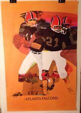 ORIGINAL Vintage NFL Atlanta Falcons 1968 NFL Collector Series Football Poster