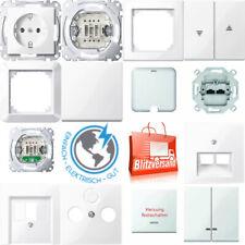 Merten Steckdosen, Schalter, UP, Rahmen 1-M, M-Smart, M-Pure polarweiß glänzend
