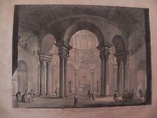 Piranesi Chiesa Santa Costanza acquaforte originale etching Roma Via Nomentana