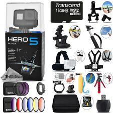 GoPro Hero5 Black 4K Ultra HD Camera + 9PC Filter Kit Set & More! - 16GB Kit