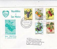 San Marino 1973 Fruits FDC Unaddressed VGC