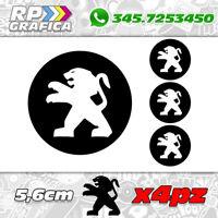 KIT 4 ADESIVI PEUGEOT COPRI MOZZO sticker 3008 308 208 207 206 black & white