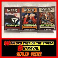 3 Sealed Decks of WARLORD Saga of the Storm CCG BETRAYAL NEW!