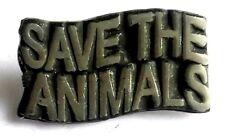 Save The Animali Fatto a Mano Inglese Distintivo Spilla di Peltro Ultime