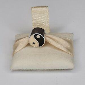 Truth PK 925 Sterling Silver Yin & Yang Black & Cream Charm Bead