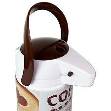 """1,9 L Pumpkanne Airpot Metall Kaffeekanne Isolierkanne Glaseinsatz Weiß """"Coffee"""""""