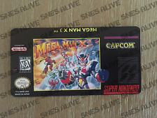 Mega Man X3 Snes Cartridge Replacement Game Label Sticker Precut
