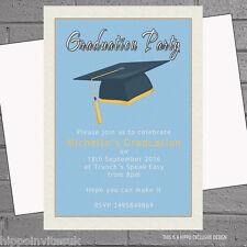 Graduation Hat Celebration Graduate Party Invitations x 12 +envs H0351