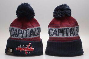 Washington Capitals Hockey Warm Winter Cuffed POM Adult Beanie Hat Unisex - New