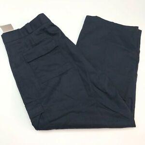 NWT Tact Squad Cargo Pants Mens 50 Navy Straight Leg Cotton Blend Clasp Closure