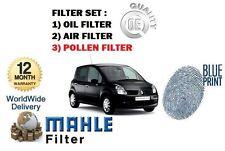 Para Renault Modus 1.5TD dCi 2004 - > Servicio Kit Aceite Aire Polen (3) Conjunto de filtros
