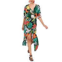 Robe De Plage Bohémien Imprimée Fleur À La Mode Pour Femme Vêtements De Tai Y2S6