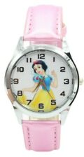 Snow White Pink Leather Band Wrist Watch