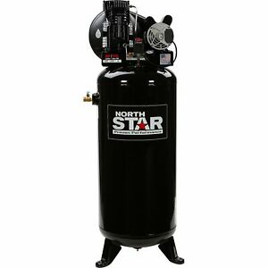 NorthStar Electric Air Compressor- 3.7 HP 230V 1 Phase 60-Gallon Vertical Tank