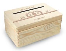 kleine Holz-Geschenkbox  Hochzeit Briefbox (BB3) Geldgeschenke incl Lasergravur
