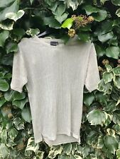 URBAN OUTFITTERS SILVER MESH TRANSPARENT TOP SIZE SMALL NEW WITHOUT TAGS