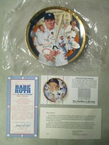 VINTAGE 1992 THE LEGENDARY BABE RUTH HAMILTON COLLECTION COLLECTORS PLATE W/ BOX