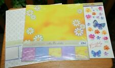 2 Miss Elizabeth Scrapbooking Easy Page Kits/ & 1 Two Sided Clear Stickers