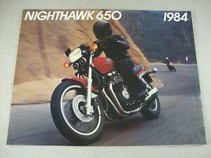 1984 HONDA NIGHTHAWK 650 CB640SC Genuine OEM Dealer Sales Brochure