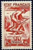 """FRANCE STAMP TIMBRE YVERT N° 577 """" TRAVAIL 1F50 + 2F50 ROUGE """" NEUF xx LUXE"""