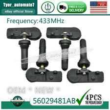 4pcs New Tpms Tire Pressure Sensor Oem For Dodge Ram 1500 Jeep Grand Cherokee Fits Dodge Ram 1500