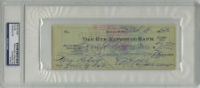 Ed Barrow SIGNED CHECK New York Yankees (DEC) PSA/DNA AUTOGRAPHED
