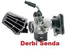 Kit Carburateur 17,5 + filtre + Pipe DERBI SENDA