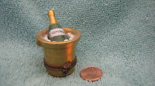 Limoges France Champage Bottle and Ice Bucket Marque Deposee Peint Main