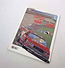 1985 Miller High Life 500 Charlotte SOUVENIR  PROGRAM with Qualifying Insert