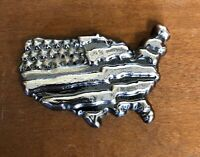 5oz YPS 999+ fine silver bullion bar - Yeager's Poured Silver - USA Map / Flag