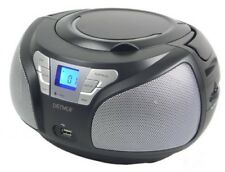 Boombox mit CD-Player, USB, MP3, Radio und Aux Denver TCU-206 BLACK