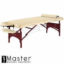 "Master 28"" Caribbean Portable Folding Massage Table Package Case- Beige"