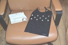 tee shirt neuf debardeur lulu castagnette 4/5 ans noir ourson argent