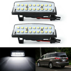 FULL White Led License Plate Lights Housing SET For Nissan Altima/Sentra/Maxima