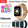Z60 Bluetooth Smart Watch GSM SIM Phone Mate Stainless Steel For IOS Android
