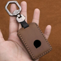 For VOLVO S60 S90 XC60 XC90 V90 XC40 Genuine Leather Remote Key Fob Cover Case