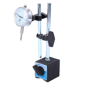 0-10MM METRIC DTI DIAL INDICATOR TEST GAUGE STAND& MAGNETIC BASE PRECISION CLOCK