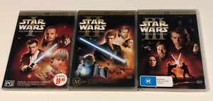 Star Wars- X 3 DVDs (2 Disc Set) VG-Excellent Condition