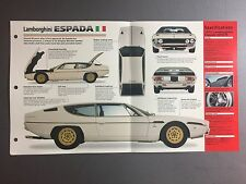 "1968 - 1978 LAMBORGHINI Espada IMP ""Hot Cars"" Spec Sheet Folder Brochure #2-25"