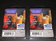 Better Homes & Gardens Scented Wax Cubes CREAMY APPLE CIDER / 2 Packs