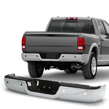 For 09-18 Dodge Ram 1500 Replacement Rear Bumper w/Sensor Hole Chrome Polished