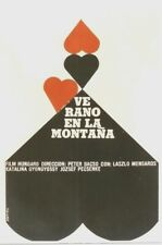 Original vintage poster SUMMER IN THE MOUNTAINS CUBA FILM 1969