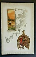 1916 Bay City Wisconsin St Paul Minnesota Thanksgiving Greetings Postcard Cover