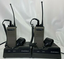 2 Motorola HT600 FM Two-way Radios + Microphones + Chargers as is