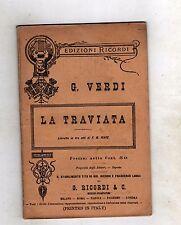 giuseppe verdi - la traviata- libretto 1892 edizioni ricordi