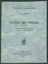 PARTITION - BACH J.S- CLAVECIN BIEN TEMPÉRÉ VOL1 + PASSION SELON ST JEAN CHOEURS