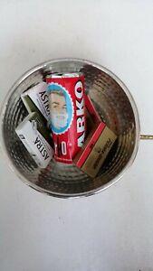 Shaving bowl  4 packs perma sharp astra double edge razor blades arko soap set