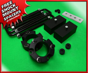 """For 99-06 Toyota Tundra 2WD 4WD 3"""" Front + 2"""" Rear Leveling Lift Kit Blk Billet"""